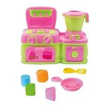Kit Brinquedo Fogão E Liquidificador Cozinha Colorida