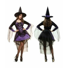 Disfraz Mujer Bruja Halloween Noche Party Glamour