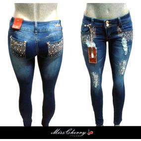 Pantalon Colombiano Levanta Pompa Cristal Jeans Mayoreo Lote