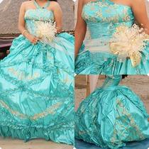 Vestido De Xv Azul Turquesa