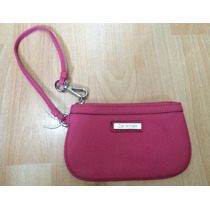 Bolsa Cartera Clutch Calvin Klein Piel Saffiano Original!!