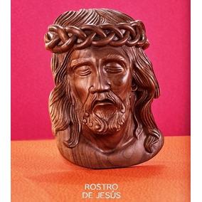 Rostro De Cristo Tallado En Maple Cedro Caoba Encino Nogal