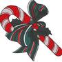Matriz De Bordado Natal #12 Enfeite Laço Bengala