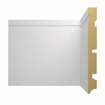 Rodapé Brasgroup 1025 15mm X 15cm X 2,40m (barra) Branco