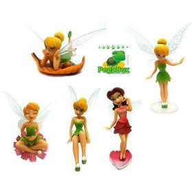 5 Bonecas Fadas Tinkerbell Sininho Peter Pan - Disney
