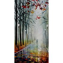 Fog In The Park - Pintura Al Óleo En Lienzo Por L Afremov