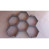Forma Sextavada 6 Peças30x30x08cm Bloquetes Concreto Bloco