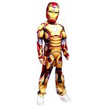 Fantasia Infantil Homem De Ferro Com Músculo Pronta Entrega