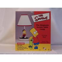 Nueva Lampara De Mesa Los Simpsons Figura De Bart Ceramica