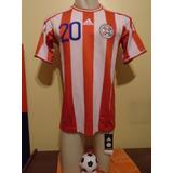 Camiseta Fútbol Paraguay Copa América 2011 Ortigoza 20 Nueva