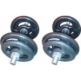 Kit Completo Musculação Barras Rosqueadas + 20kg Anilhas