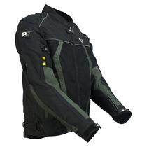Chamarra Motociclismo R7 Mod. 301 Negro/gris Talla Xl