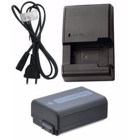 Kit Bateria Np-fw50 + Carregador P/ Sony Alpha Nex-f3 Nex-c3