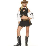 Disfraz Traje De Sheriff Bueno Leg Avenue De La Mujer
