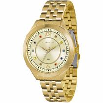 Relógio Lince Feminino Dourado Lrg4324l C2kx - Original