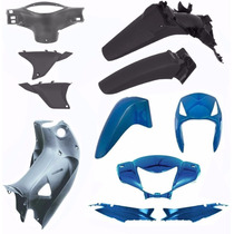 Kit Carenagem Completo Biz 125 Ks Es Ano 2006 Azul Metalico