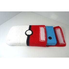 Bolsa P. 3ds/dsi Personalizada(pokebola) Croche_frete R$9,90