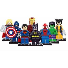 Kit 8 Bonecos Lego Marvel - Compatível ***promoção***