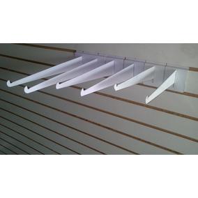 Mensulas Blancas Para Repizas Exhibipanel Ranurado Blister