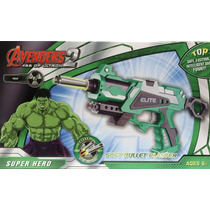 Lançador Nerf Incrivel Hulk Huck Pistola Arma Atira Dardos