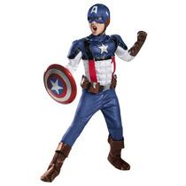 Disfraz Capitan America Traje Retro Niño Halloween Avengers