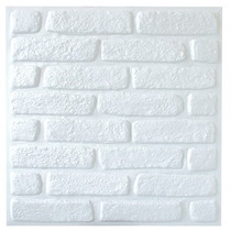 Painel 3d (promoção) Revestimento De Parede - Tijolo Branco
