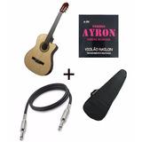 Violão Phanton Nylon Iniciante Eletrico + Corda+bag+cabo