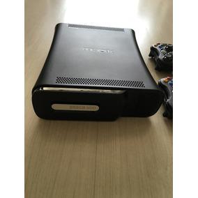 Xbox 360 Elite Hdd 250gb 2 Controles S/fio + 8 Jogos