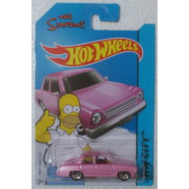 Hot Wheels Simpsons Auto Familiar Rosa Homero 2015