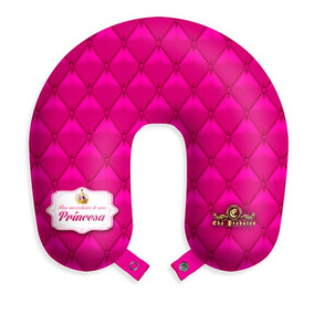 Almofada De Pescoco Princesa Capitone Rosa