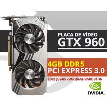 Placa De Video Gamer Zotac Geforce Gtx 960 4gb Ddr5 128bit