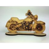 Motocicleta Harley Miniatura Mdf Recuerdo Centro Mesa Regalo