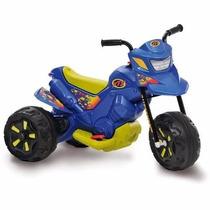 Mini Moto Elétrica 6v Xt3 Com Duas Marchas Azul Bandeirante
