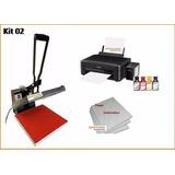 Kit 2 - Maquinas Impressora E Papel Para Estampar Camisetas