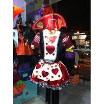Disfraz De Reina De Corazones Para Adulto Chica