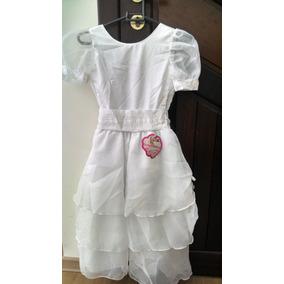 Vestido Infantil Branco Tamanho 10 Batizado 1ª Comunhão
