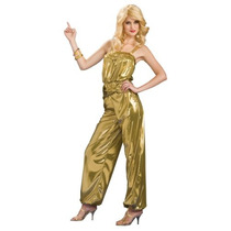 Adulto Diva Mujeres Oro Halloween Costume Disco