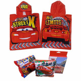 Toalla Poncho + Alitas Inflables Disney Cars