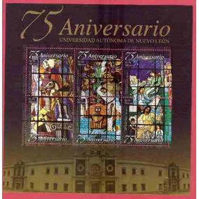 2008 Mex Hoja Souvenir Vitrales En Universidad Nuevo León .