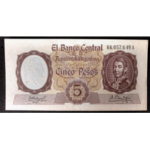Billete De Cinco Pesos Moneda Nacional Botero 1924a S/c