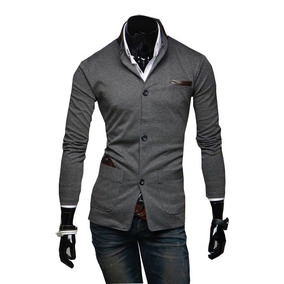Sacos Juveniles Hombre Slim Fit Moda Casual Blazer Informal