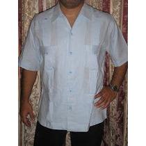 Camisas Guayaberas 100 % Lino Manga Corta Y Larga