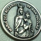 Medalla Virgen De Rosario De San Nicolas 16 Mm. Diametro