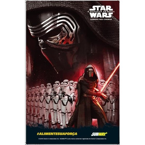Poster Star Wars Despertar Da Força R$ 8,00 Cada 4 Modelos