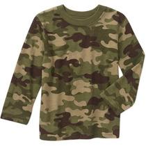 Playera Camiseta Camuflaje Militar Talla 5 Niño Envio Gratis