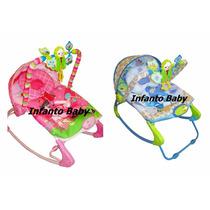 Cadeira Descanso Bebê Musical Vibratória Balanço Color Baby