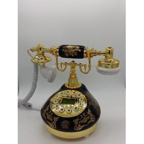 Telefone Preto De Mesa Vintage Antigo Retro