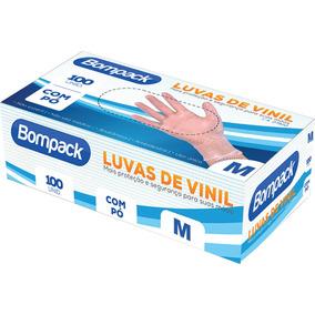 Luva Procedimento Vinil M Talc. Bompack 100un
