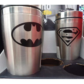 Padrisimos Termos Metalico Batman / Superman . 1/2 L