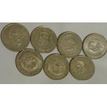 Lote De 10 Monedas Cinco Pesos Hidalgo Grande Envío Gratis